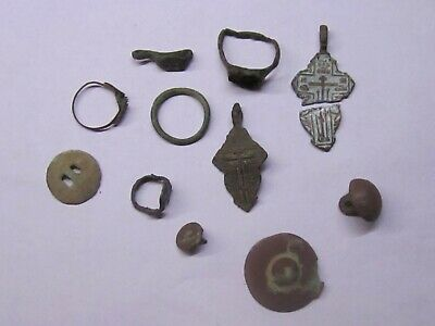 Parts of women's jewelry. 12th-18th century.