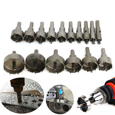 16pcs Steel Carbide Tipped Hole Saw Drill Bit Set Metal Wood Cutter US Stock H9