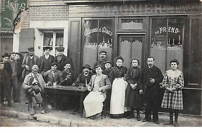 60 . n° 52490 . montataire . carte photo.cafe magnier