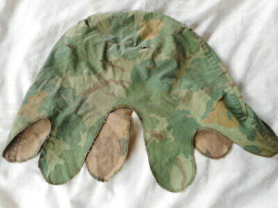 1974 DATED US ARMY USMC M1 HELMET COVER MITCHELL LEAF CAMOUFLAGE vietnam war