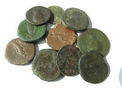 Collectable Lot Of 10 Roman Bronze Coins