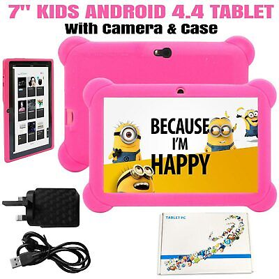 Kids Children Android 4.4 Tablet 7'' Inch Tab Quad Core Touchscreen 8Gb Hd