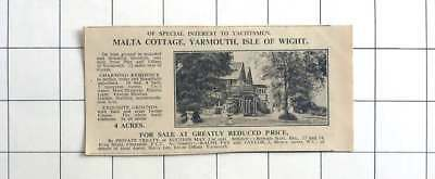1936 Malta Cottage, Yarmouth Isle Of Wight With 4 Acres For Sale