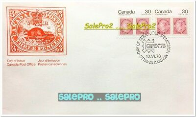 Canada 1978 Canadian Capex '78 Queen Face 24 Cent Pair Stamp 1St Day Cover Fdc
