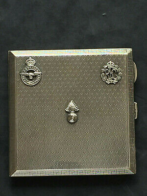 Royal Flying Corp Solid Silver Cigarette case OUTSTANDINGLY SUPERB Condition