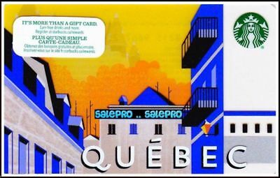 Starbucks Canada Canadian Province Of Quebec Rare Collectible Gift Card