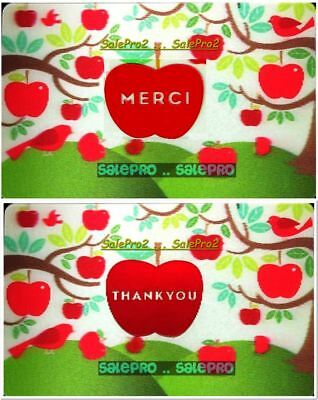 2x CHAPTERS INDIGO COLES MERCI THANK YOU 3D LENTICULAR COLLECTIBLE GIFT CARD LOT