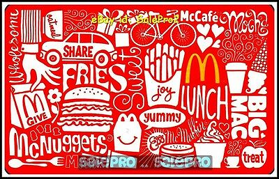 McDONALD YUMMY EGG WHOESOME McNUGGETS GIVE THE JOY RARE COLLECTIBLE GIFT CARD