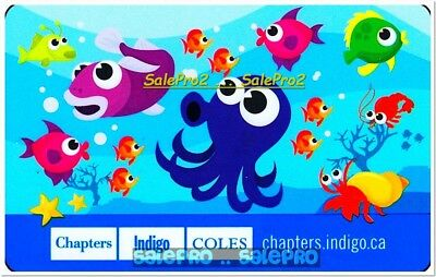 Chapters Indigo Coles Underwater World Fish & Octopus Collectible Gift Card
