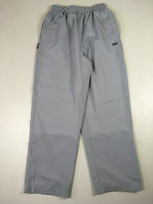 Mens Reebok Light Grey Drawstring Waist Tracksuit Bottoms Trousers Size Medium