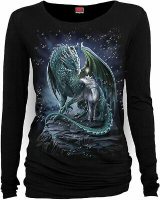Spiral Direct PROTECTOR OF MAGIC Long Sleeve/Dragon/Angel/Wings/Gothic/Goth/Top