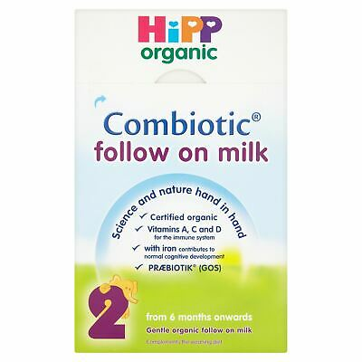 HiPP Organic Combiotic Follow on Milk From 6 Months Onwards 2 x 400g (800g)
