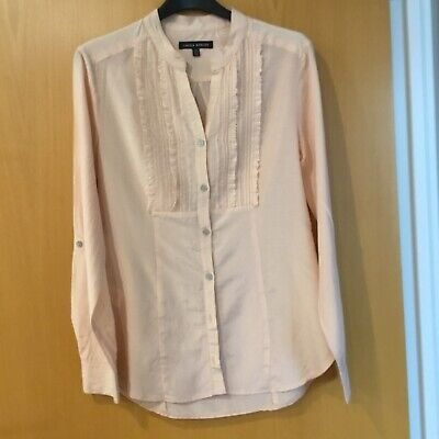 Laura Ashley Ladies / Girls Top Size 8 Very Soft Peach Colour Long Sleeves
