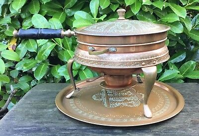 Old Vintage Middle Eastern Persian Islamic Darius Tin Lined Copper Cooking Set