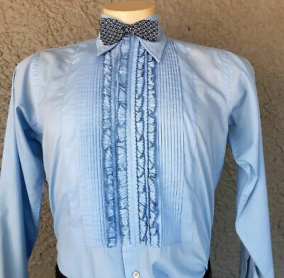 Dinner shirt,1960's, Ruffled front by 'Prince Rinaldi' size L