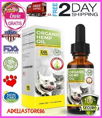 Organic Hemp Oil for Dogs and Cats Pets Stress Anxiety Pain.Relief 500mg Natura