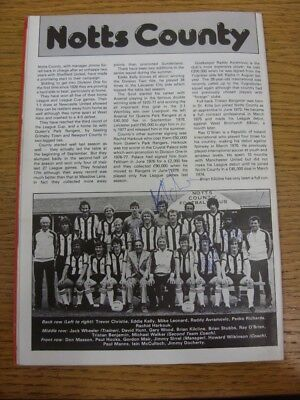 20/09/1980 Autographed Programme: Bristol City v Notts County (team changes) - H