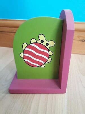 Bug Bookend Green and Pink Wood