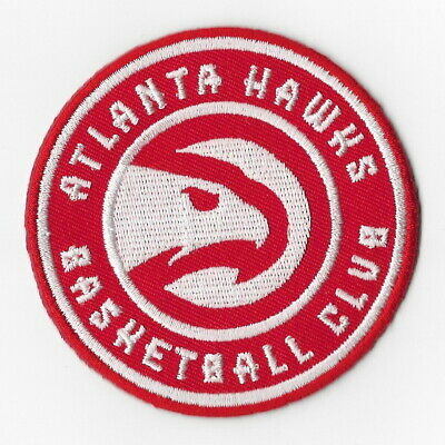 NBA Atlanta Hawks Iron on Patches Embroidered Badge Patch Applique Sewing Round