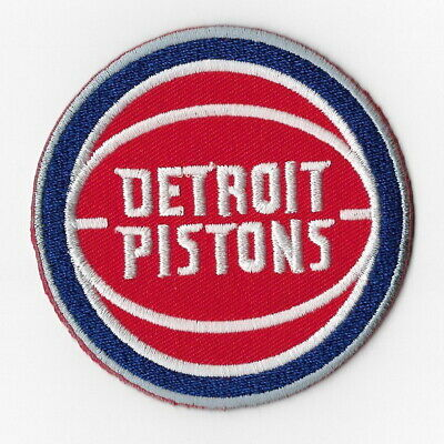 NBA Detroit Pistons Iron on Patches Embroidered Badge Patch Applique Sew Round