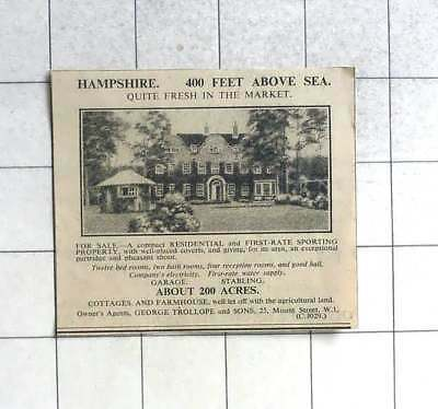 1936 12 Bedroom Sporting Property On 200 Acres For Sale Hampshire