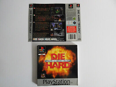 * Ps1 * Die Hard Trilogy * Manual & Rear Inlay Only * Retro Gamer