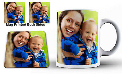Personalised Photo Mug Ceramic Custom Image Birthday Coffee Tea Cup Novelty Gift