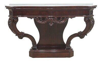 47273EC: KARGES French Style Carved Mahogany Console Table
