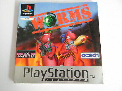 * Ps1 * Worms * Manual Only * Retro Gamer