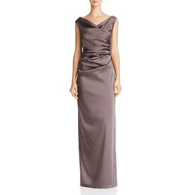 Adrianna Papell Womens Taupe Satin Full-Length Evening Dress Gown 4 BHFO 4747