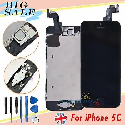 For iPhone 5C LCD Display Touch Screen Digitizer Assembly + Home Button Black UK