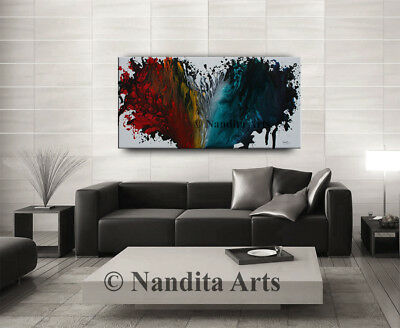 Modern Art Contemporary Abstract HEART STYLE ARTWORK RED Painting Large Decor