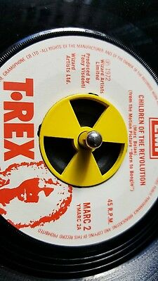 Stainless steel radioactive 45 rpm adapter,  ****SLIGHT PAINT DEFECTS****