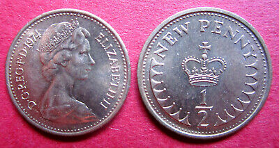 Britain  Elizabeth Ii  1974 High Grade Uncirculated Decimal Half New Pence Coin
