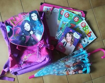 Zaino Scuola Estensibile Descendants + Diario Violetta+Ombrello Frozen Kit Omagg