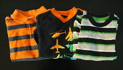 Toddler Boys Lot of 3 Casual Short Sleeve Tops Summer Shirts Size 24 months