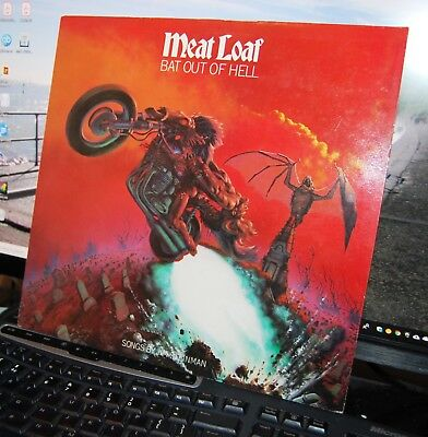 """Meat Loaf.  """"Bat Out Of Hell""""  Epic Uk 1977 Lp. Nm Cond."""