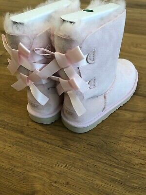 9af0dd78d10 UGG AUSTRALIA BAILEY Bow II Seashell Pink Boot Kid's Girl's sizes 13 ...