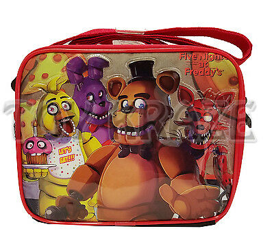 Five Nights At Freddy's Lunch Box! Black & Red Checkers Boys Insulated Tote Nwt