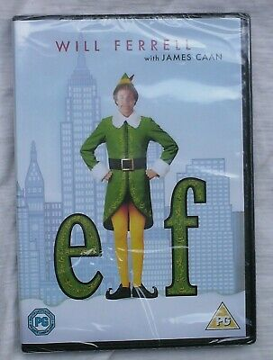 ELF DVD  Will Ferrell  New and Sealed  Christmas  Comedy Film