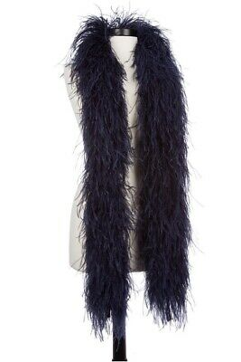 """4 Ply OSTRICH FEATHER BOA - NAVY BLUE 2 Yards; Costumes/Craft/Bridal/Trim 72"""""""