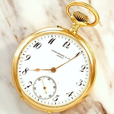 Gold Patek Philippe Luxury Pocket Watch C1906 | 18K Gold, Triple Signed Patek Ph