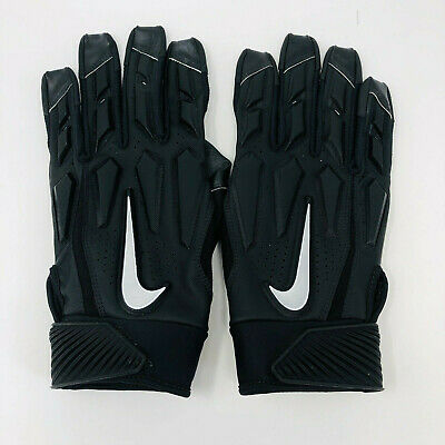 promo code 2996b 6a175 New Nike D-Tack 6.0 Football Linemen Gloves XL Padded Black Silver Adult