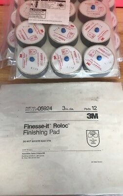 "3M Finesse-it Roloc Finishing Pad 3"", 05924 - 12 Pcs Factory Pack (MLW)"