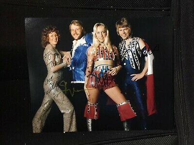 Abba Band Signed 8 X 10 Autographed Personalized To Tor All Members Rare!