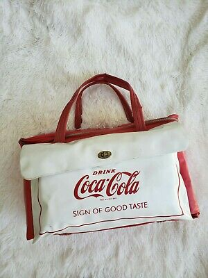 """RARE!!!  1950""""  Coca-Cola Cooler Lunchbox Bag Great Conditions"""