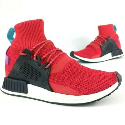ff6fc0580 Adidas Mens Nmd Xr1 Knit Winter Scarlet Red Black Sneakers Trainers BZ0632  NEW