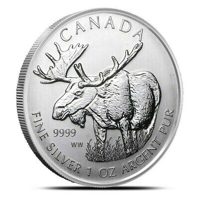 Canada 2012 $5 1 oz Pure Silver Coin Canadian Wildlife Series Moose