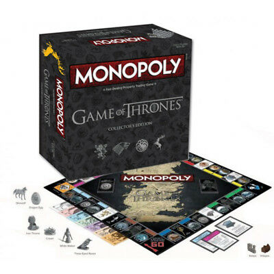 Game of Thrones Monopoly Collector's Edition Family Board Game