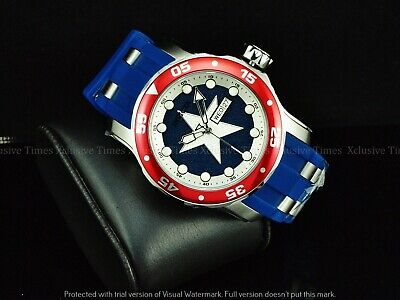 INVICTA Men 48mm Marvel ENDGAME Limited Ed Captain America Pro Diver Scuba Watch
